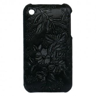 Coque iPhone 3G / 3GS Fleurs et raisins noir