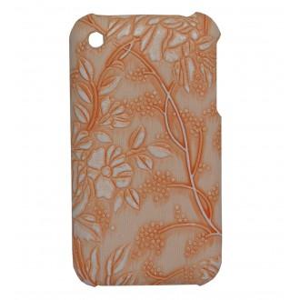 Coque iPhone 3G / 3GS Fleurs et raisins saumon