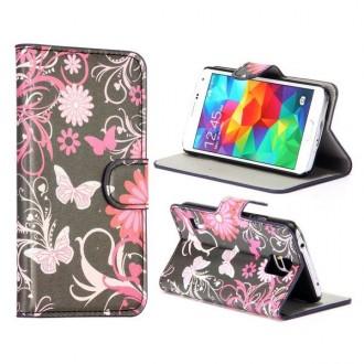 Etui Galaxy S5 motif Papillons et Fleurs