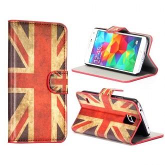 Etui Galaxy S5 drapeau UK vintage