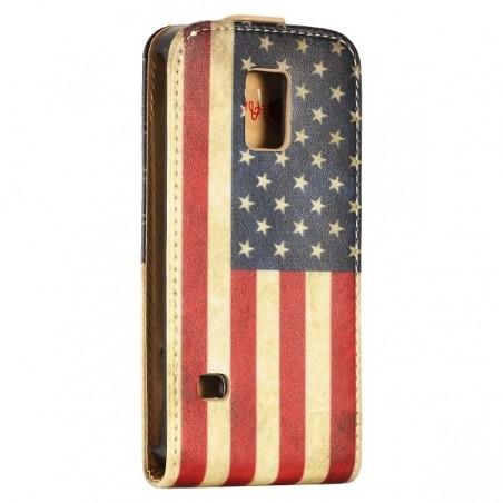 Etui Galaxy S5 Mini motif drapeau USA vintage