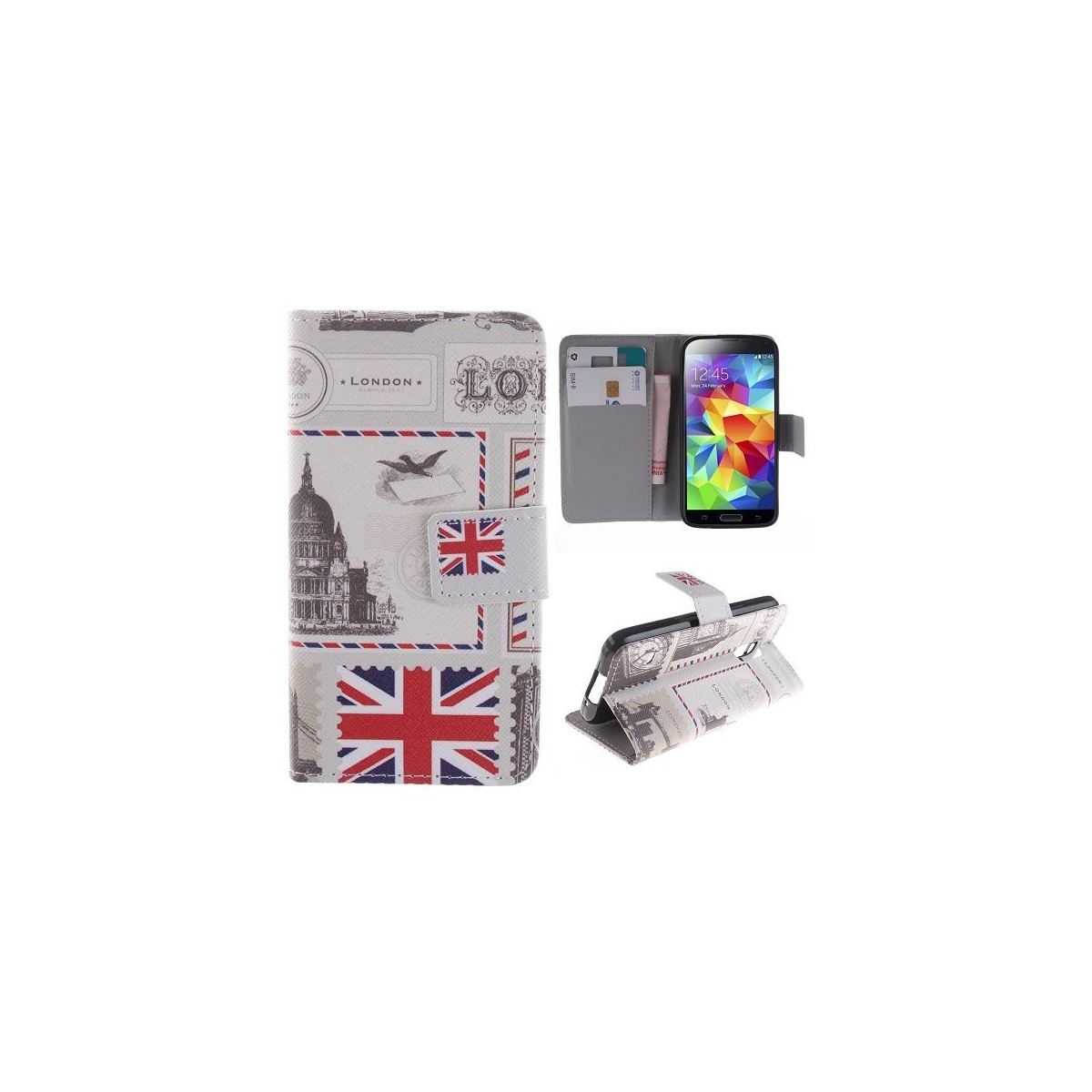 Etui Galaxy S5 Mini motif drapeau UK