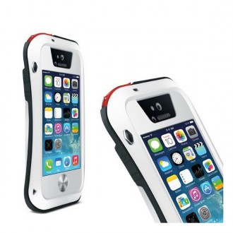 Coque iPhone 5 / 5S Etanche Antichocs Aluminium Blanche - LOVE MEI