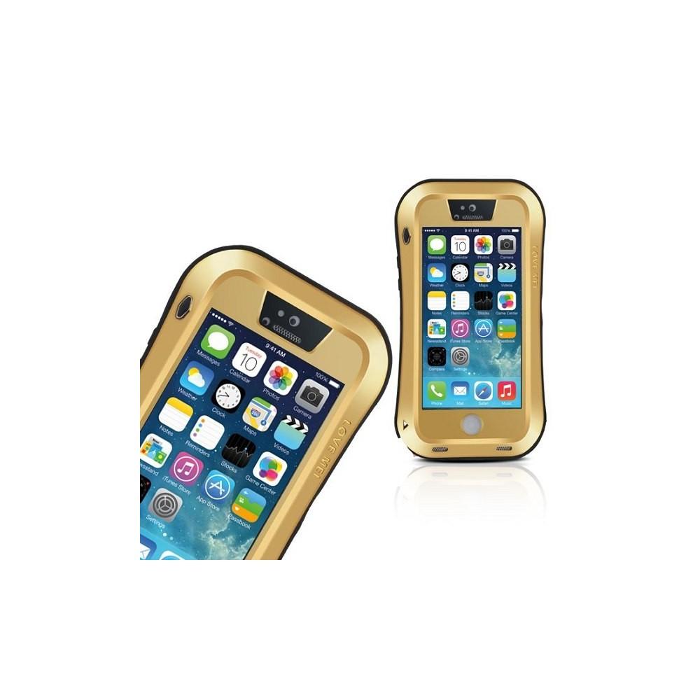 Coque iPhone 5 / 5S Etanche Antichocs Aluminium Blanche - LOVE MEI