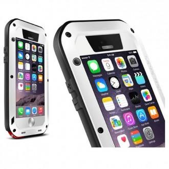 Coque iPhone 6 Etanche Antichocs Aluminium Blanche - LOVE MEI