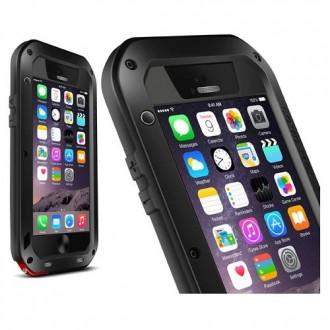 Coque iPhone 6 Etanche Antichocs Aluminium Noire - LOVE MEI