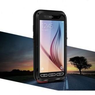 Coque Galaxy S6 Etanche Antichocs Aluminium Noire - LOVE MEI