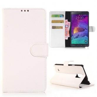 Etui Galaxy Note 4 Simili-cuir Blanc