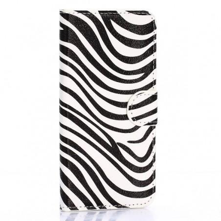 Crazy Kase - Etui Galaxy S6 Edge Motif Zébré noir et blanc