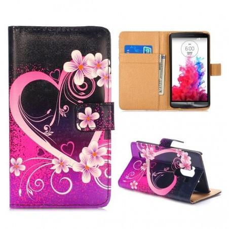 Crazy Kase - Etui LG G3 Motif Coeur et Fleurs