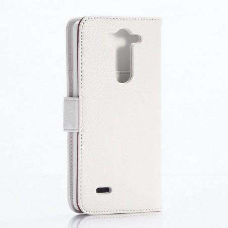 Crazy Kase - Etui LG G3s Simili-cuir Blanc