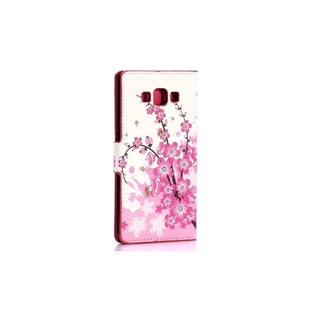 Crazy Kase - Etui Galaxy A7 Motif Fleur Japonnaise