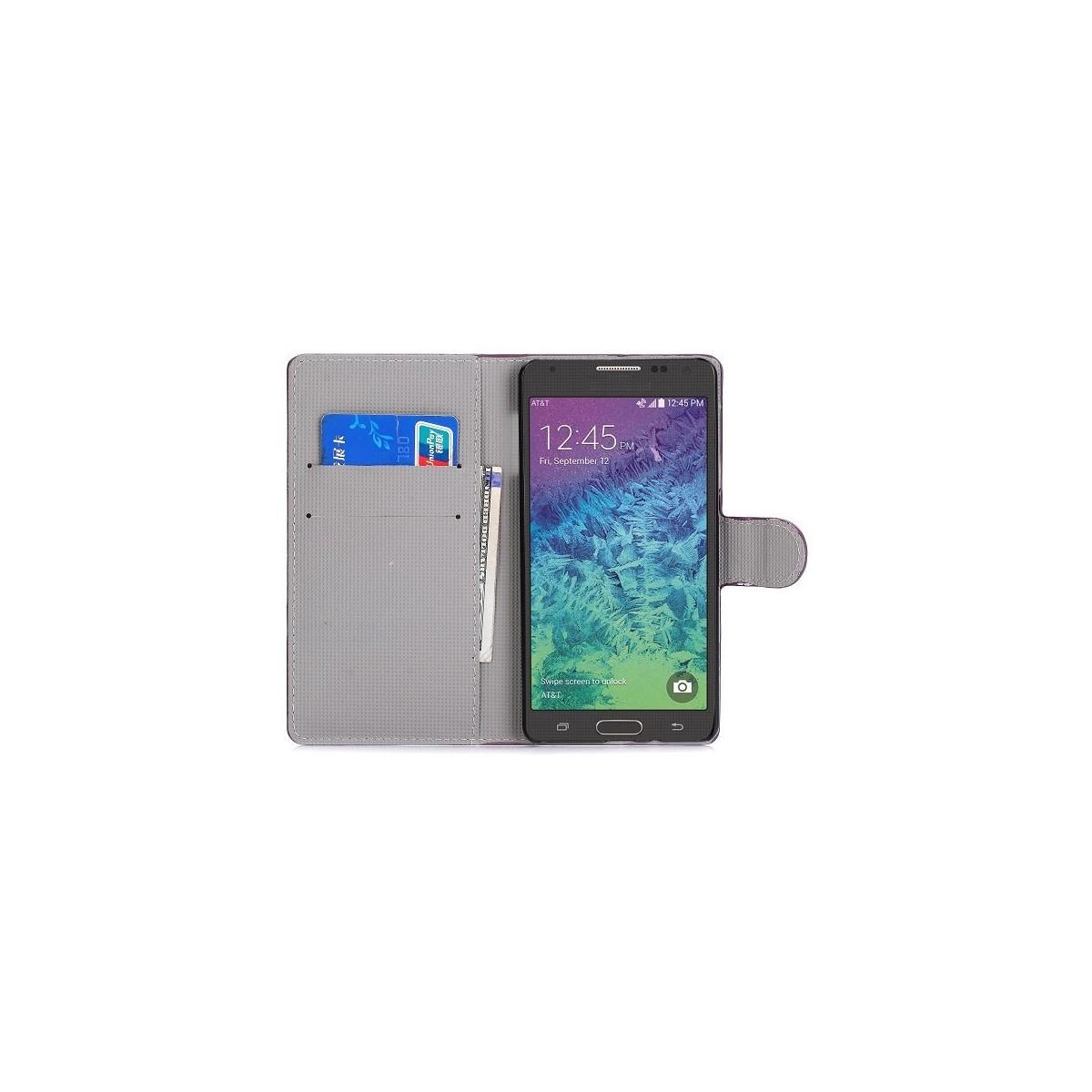 Crazy Kase - Etui Galaxy A7 Motif Papillons violets