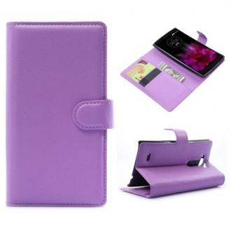 Crazy Kase - Etui LG G Flex 2 Simili-cuir Violet