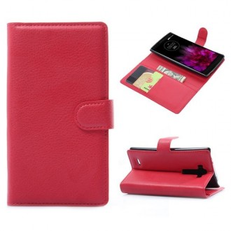 Crazy Kase - Etui LG G Flex 2 Simili-cuir Rouge