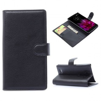 Crazy Kase - Etui LG G Flex 2 Simili-cuir Noir