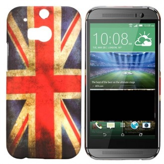 Crazy kase - Coque HTC One M8 motif drapeau UK vintage