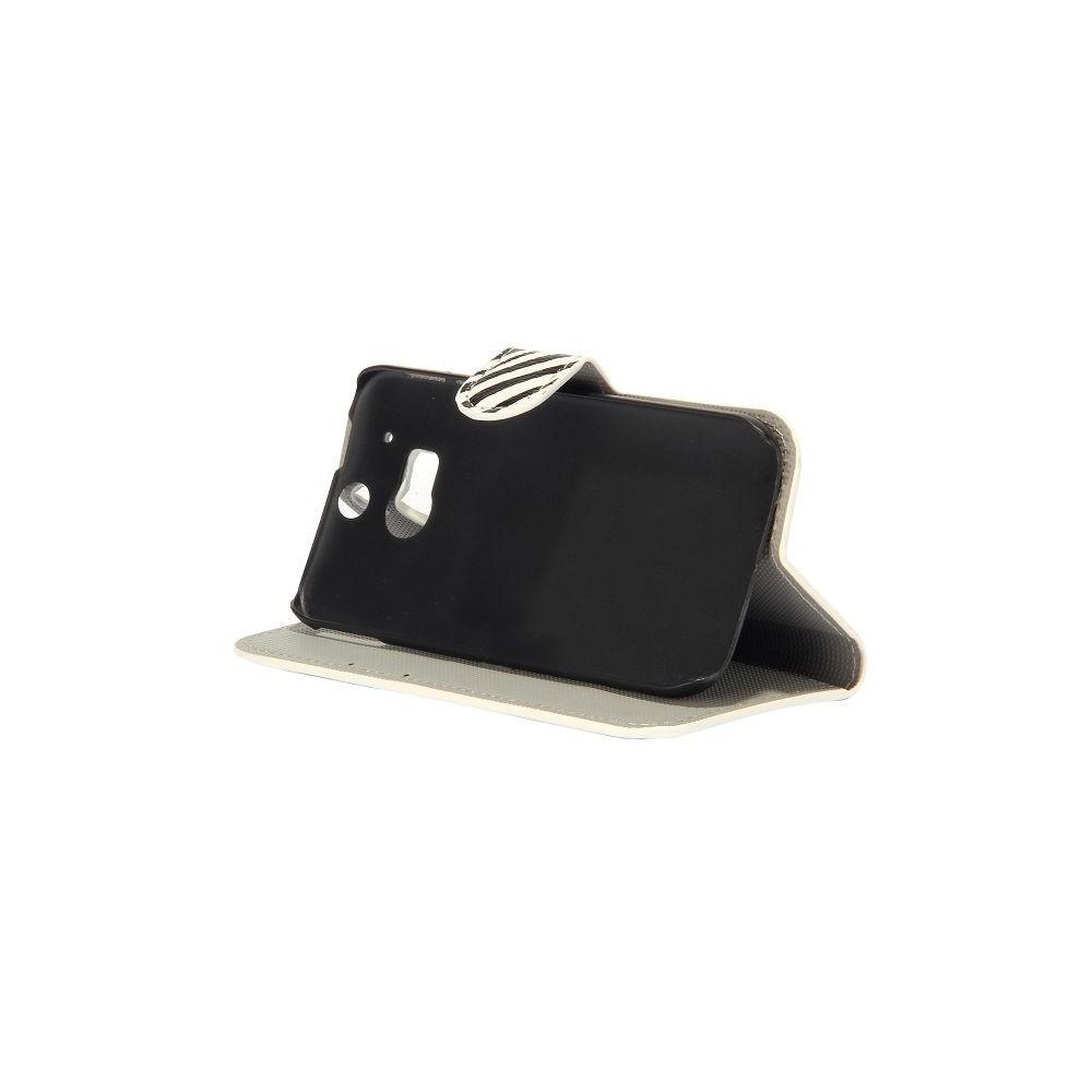 Crazy Kase - Etui HTC One M8 motif Zébré noir et blanc