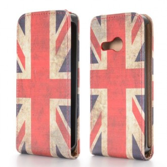 Crazy Kase - Etui HTC One Mini 2 motif drapeau UK vintage