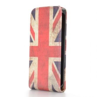 Crazy Kase - Etui HTC One Mini 2 motif drapeau UK vintage