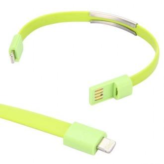 Crazy Kase - Bracelet et Câble USB vers Lightning Vert