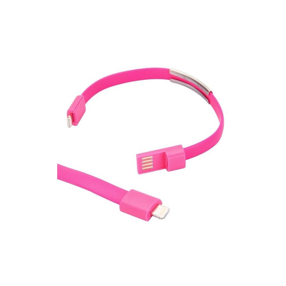 Crazy Kase - Bracelet et Câble USB vers Lightning Rose
