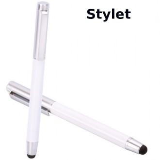 Crazy Kase - Stylet / Stylo pour écran tactile Argent et blanc