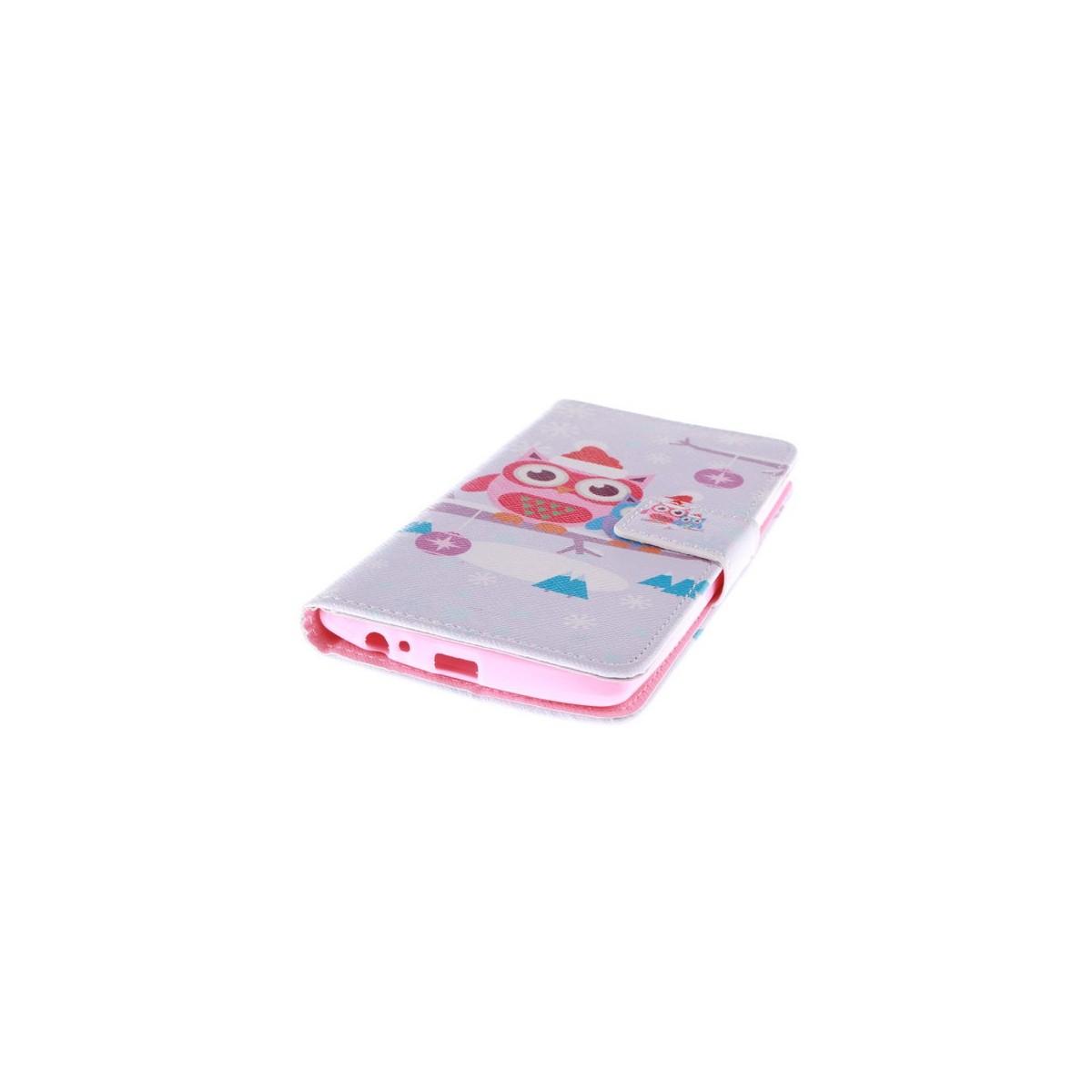 Crazy Kase - Etui LG G4 Motif Chouette à la neige