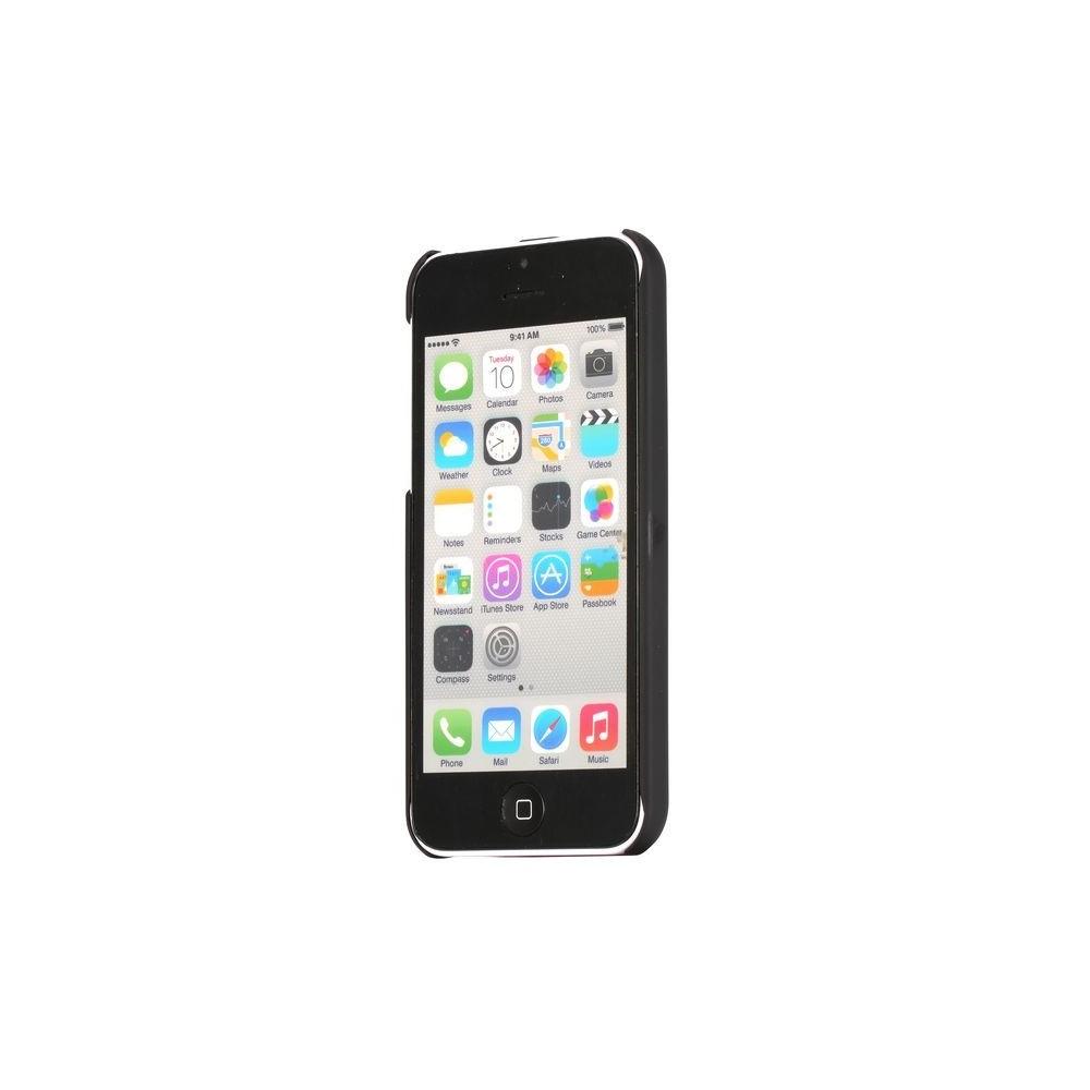 Crazy Kase - Coque iPhone 5C noire et Aluminium brossé bleu