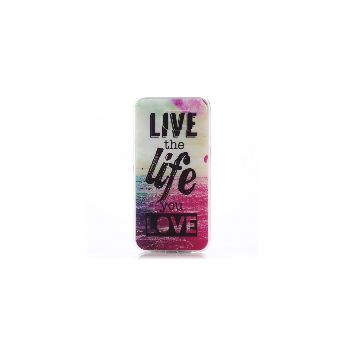 Crazy Kase - Coque Galaxy S6 motif Live the Life you Love