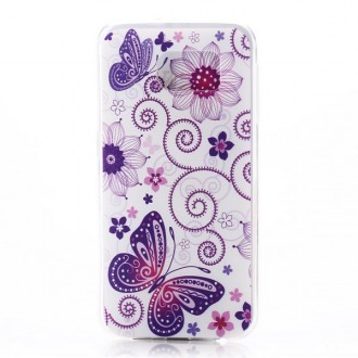 Crazy Kase - Coque Galaxy S6 Edge motif Papillons et Fleurs