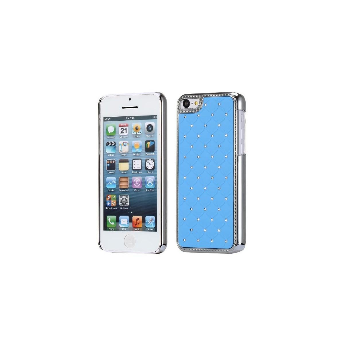 Crazy Kase - Coque iPhone 5C avec strass sur fond Bleu