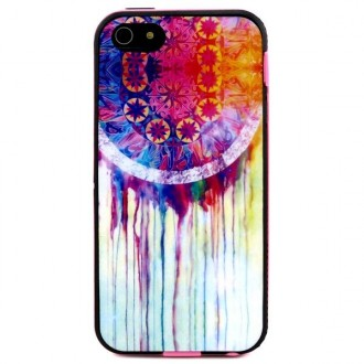 Coque iPhone 5C indienne motif Attrape Rêve Coloré