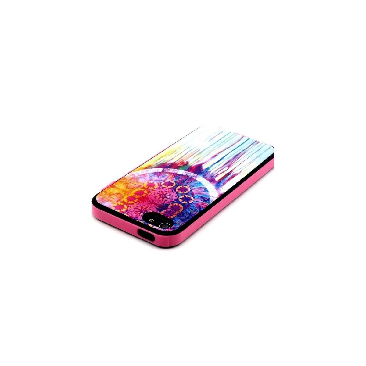 Coque iPhone 5C indienne motif Attrape Rêve Coloré