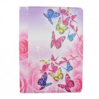 Crazy Kaze - Etui Samsung Galaxy Tab A 9.7 Rotatif 360° motif Papillons colorés