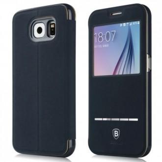 Etui Galaxy S6 avec fenêtre de visualisation Bleu nuit