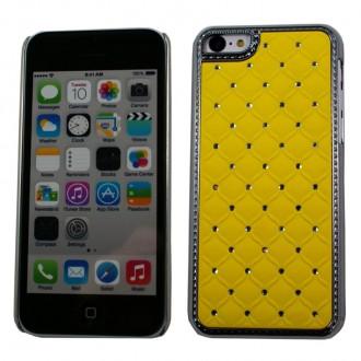 Crazy Kase - Coque iPhone 5C avec strass sur fond Jaune