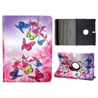 Crazy Kase - Etui Galaxy Tab S 10.5 Rotatif 360° Papillons colorés