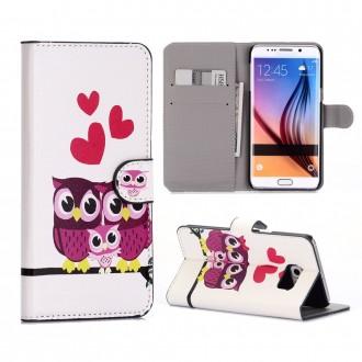 Crazy Kase - Etui Galaxy S6 Edge Plus motif Couple de Chouette