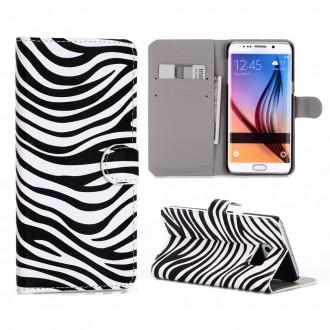 Crazy Kase - Etui Galaxy S6 Edge Plus motif Zébré noir et blanc