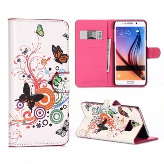 Crazy Kase - Etui Galaxy S6 Edge Plus motif Papillons et cercles