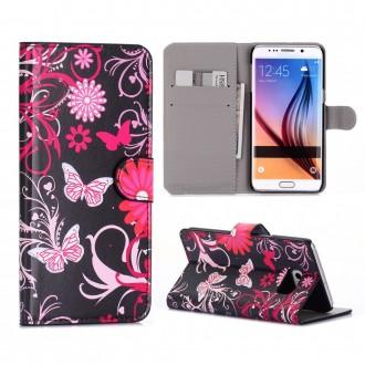 Crazy Kase - Etui Galaxy S6 Edge Plus motif Papillons et Fleurs