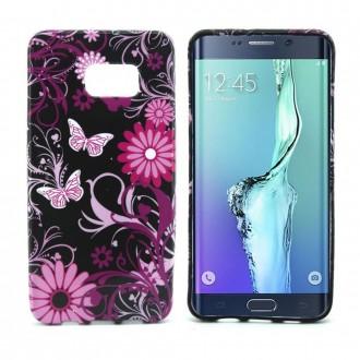 Crazy Kase - Coque Galaxy S6 Edge Plus motif Papillons et Fleurs