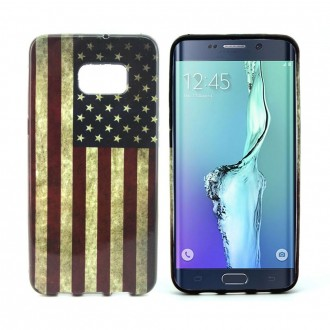 Crazy Kase - Coque Galaxy S6 Edge Plus motif Drapeau USA Vintage