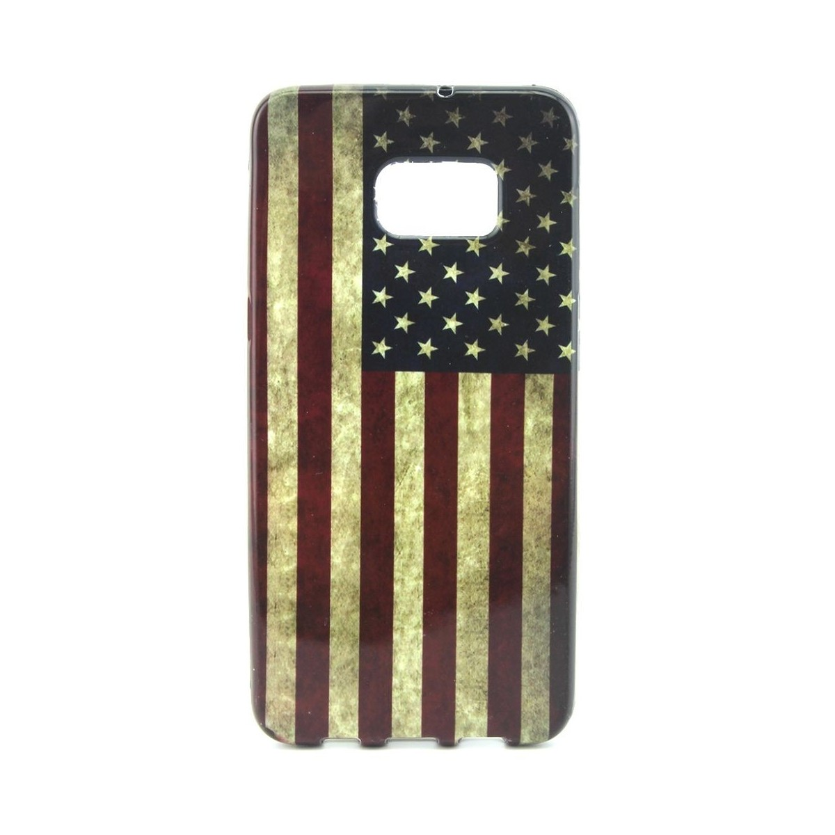 Crazy Kase - Coque Galaxy S6 Edge Plus motif Drapeau USA Vintage