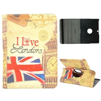 Etui Galaxy Tab 4 10.1 Rotatif 360° I Love London