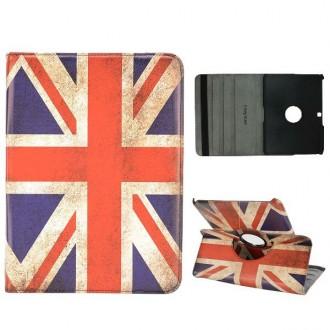 Etui Galaxy Tab 4 10.1 Rotatif 360° drapeau UK