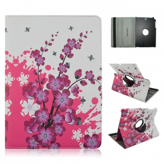 Etui Samsung Galaxy Tab A 9.7 Rotatif 360° motif Fleurs Japonaise - Crazy Kase
