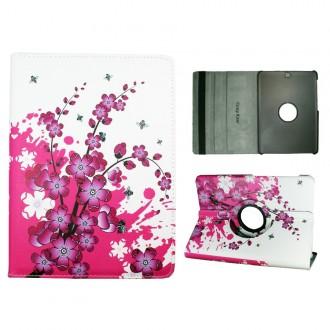 Crazy Kase - Etui Galaxy Tab S2 9.7 Rotatif 360° Motif Fleurs Japonaises