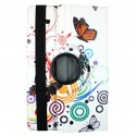 Crazy Kaze - Etui Galaxy Tab E 9.6 Rotatif 360° motif Papillons et Cercles